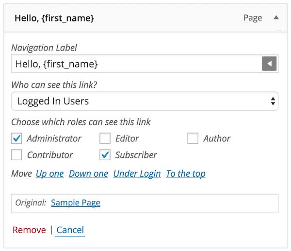 How to Show Custom Menus to Logged In WordPress Users