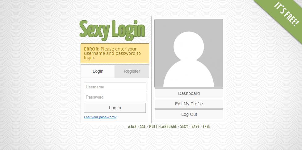 Sexy Custom Login WordPress Plugin