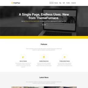 SinglePage One Page Business WordPress Theme