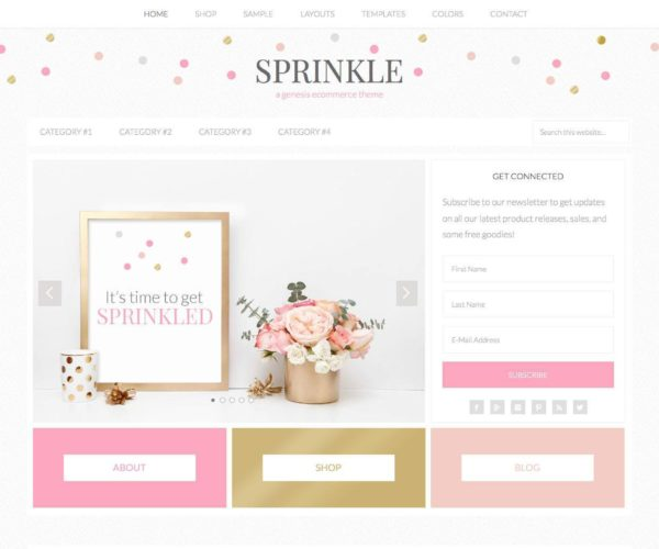 Sprinkle Girly Blog WordPress Theme