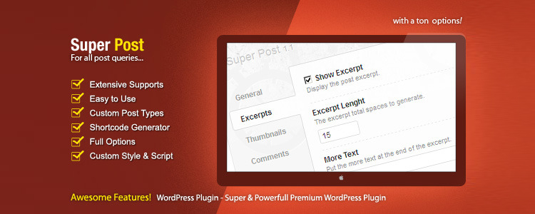 Super Post Premium WordPress Plugin