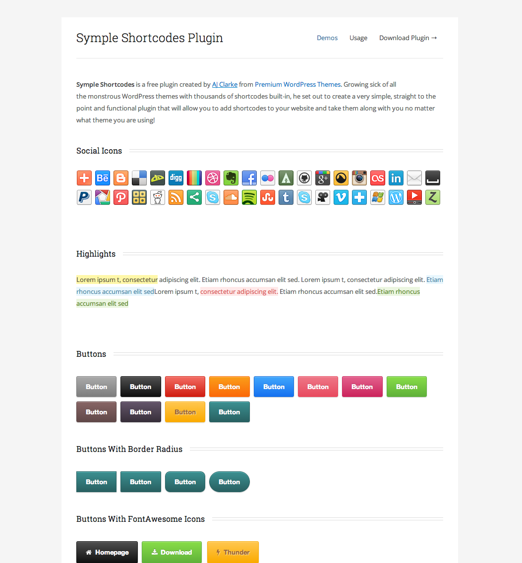 Symple Shortcodes Free WordPress Shortcodes Plugin