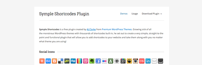 Symple Shortcodes WordPress Plugin