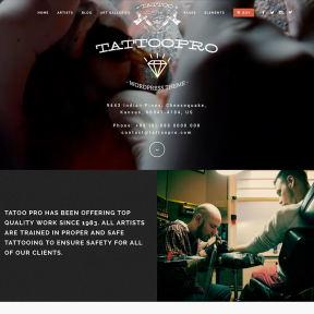 Tattoo Pro Tattoo Shop WordPress Theme