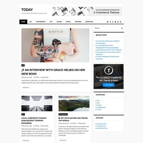 Today Magazine & Blog Free WordPress Theme