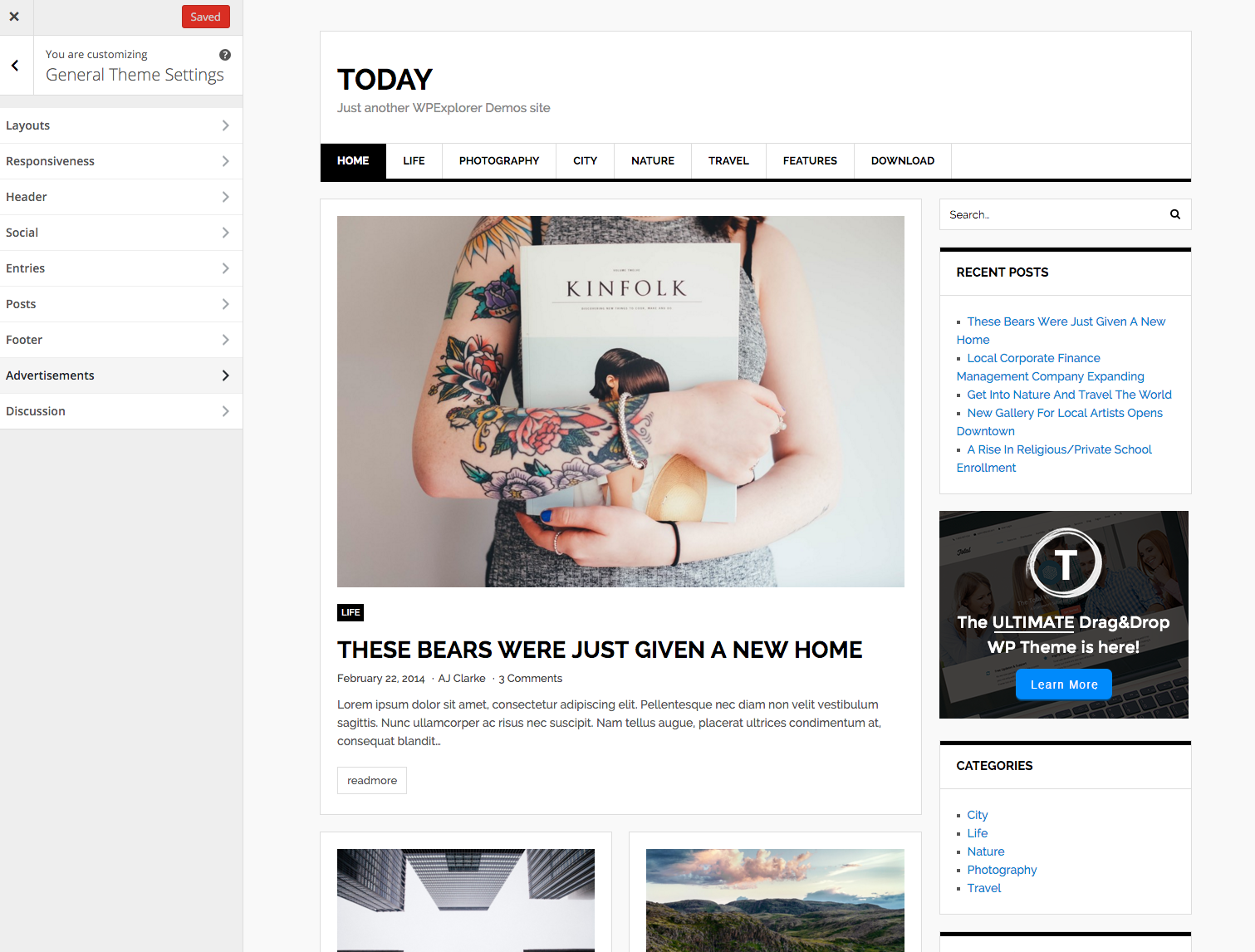 today-free-wordpress-theme