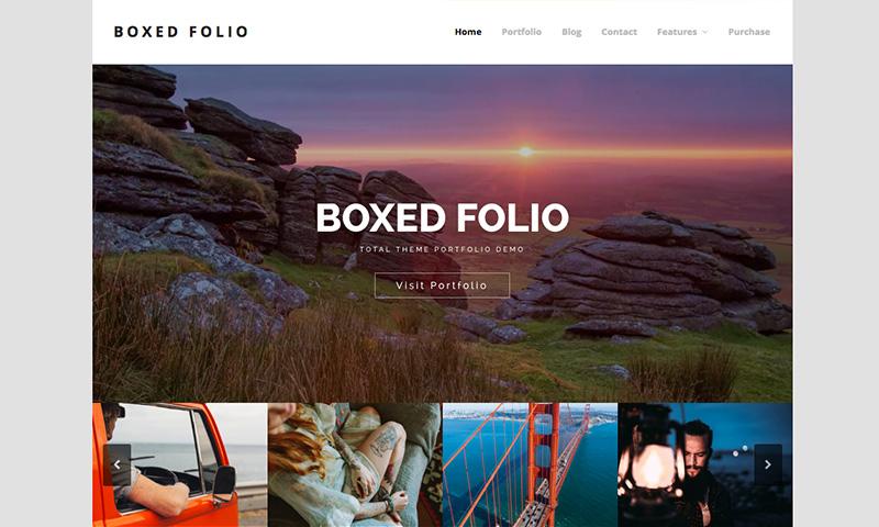 Total Boxed Porfolio WordPress Theme Demo