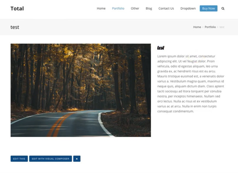 Total Dynamic Template Frontend
