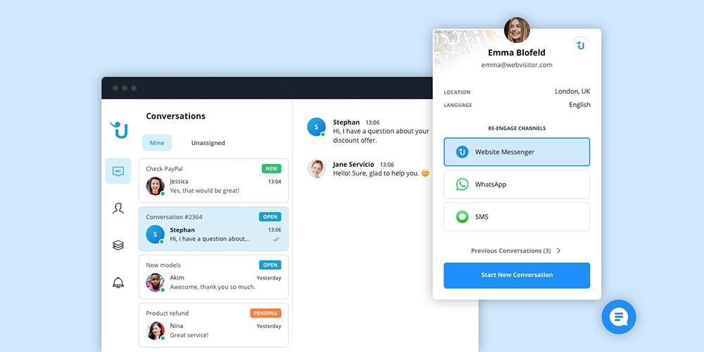 Userlike Chat Example