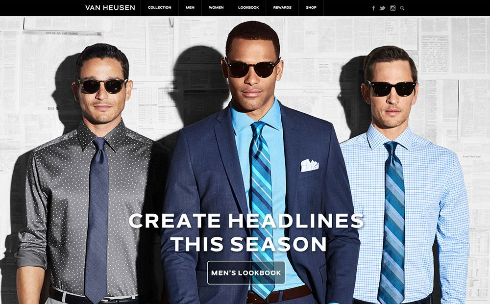 Big Name Brands That Use WordPress: Van Heusen