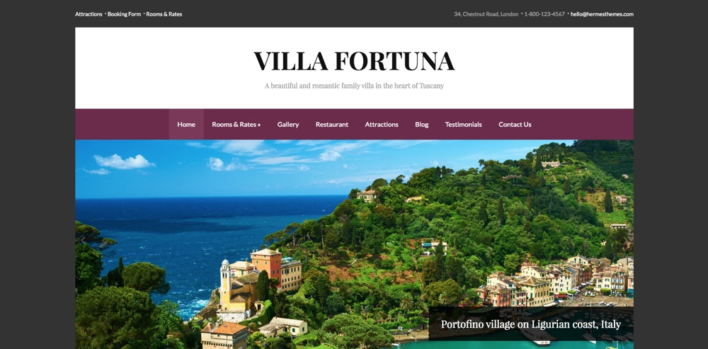 Fortuna Responsive Hotel WordPress Theme