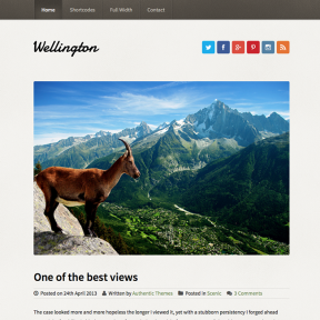 Wellington Travel Blog WordPress Theme