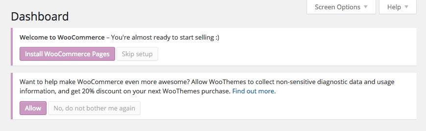 woocommerce message