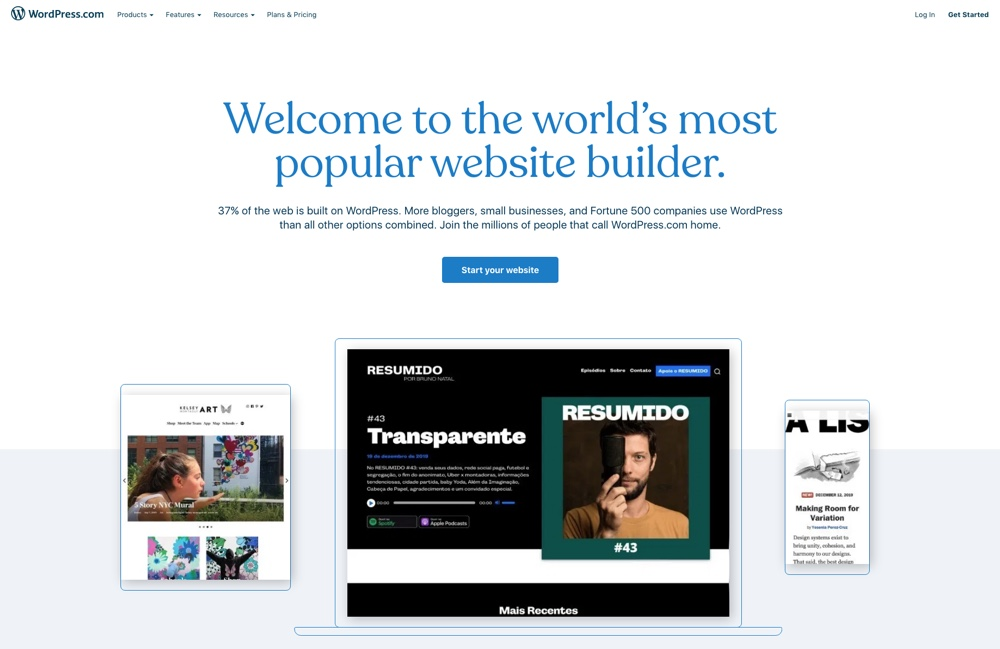 WordPress.com, Free Managed Websites