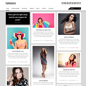 Fashionista Responsive Masonry Blog WordPress Theme