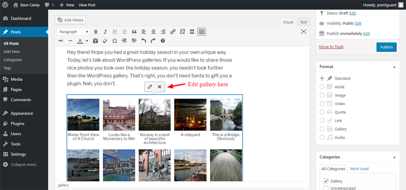 How To Create An Image Gallery In Wordpress Beginner S Guide