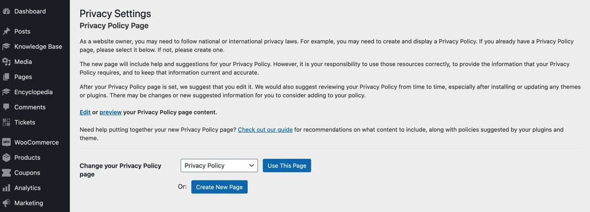 WordPress Privacy Policy Generator