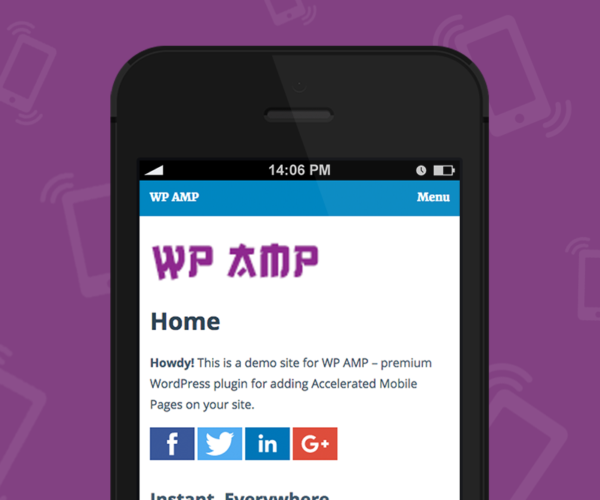 WP AMP Accelerated Mobile Pages for WordPress