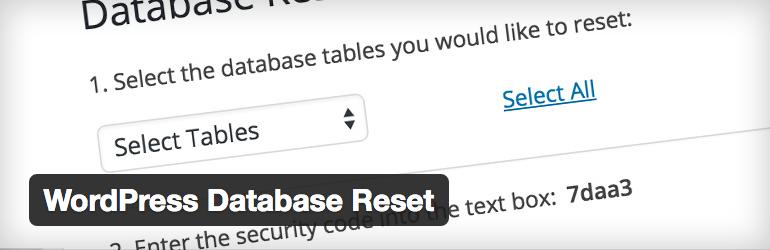 WordPress Database Reset Free Plugin
