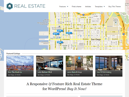WP Pro 3 Real Estate Responsive WordPress Theme