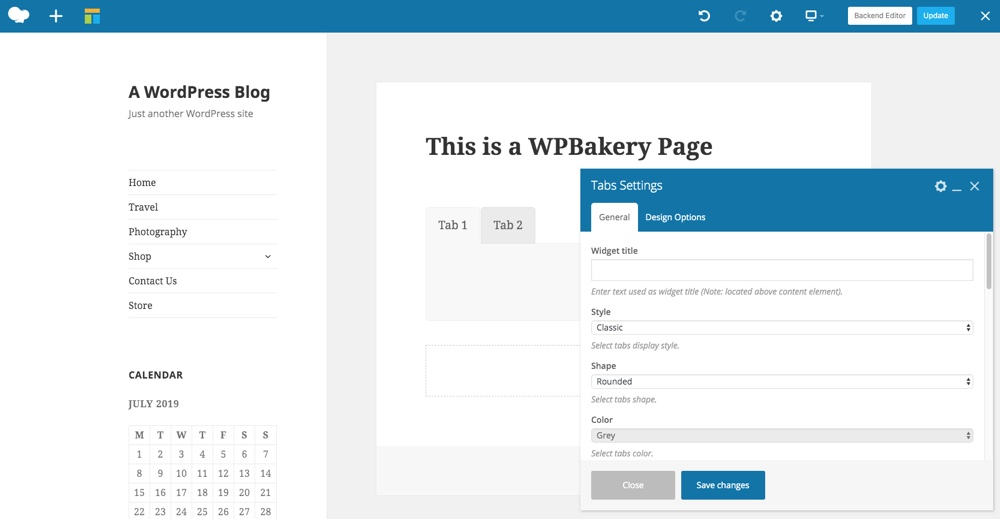 WPBakery Page Builder Tabs