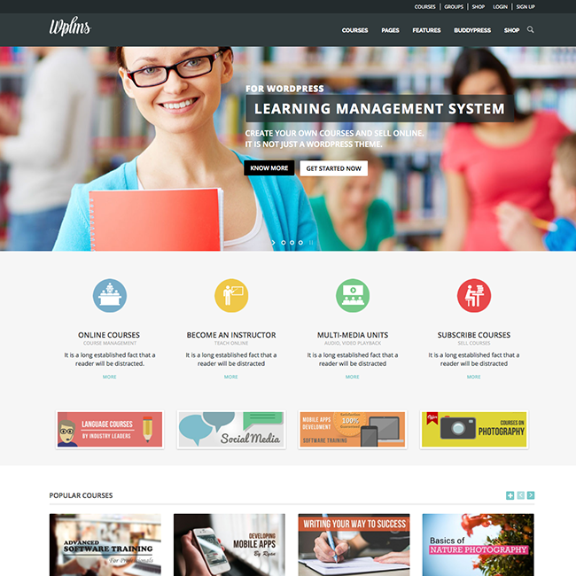 if page template wordpress - wplms learning management system wordpress theme wpexplorer