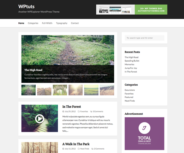 WPTuts Free WordPress Theme