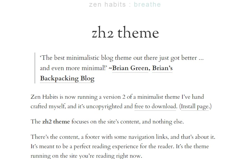 zenhabits2theme